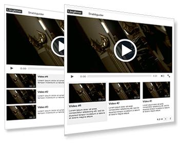 videobibliotek för spellistor
