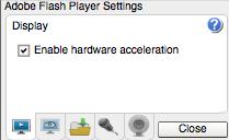 Flash Player settings