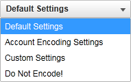 video enkodering preferences