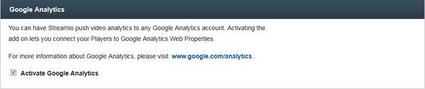 Google Analytics for video ovp
