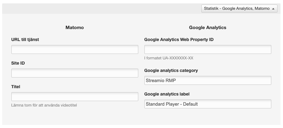 Statistik - Google Analytics, Matomo