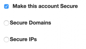 secure streaming video to specific ip or domain