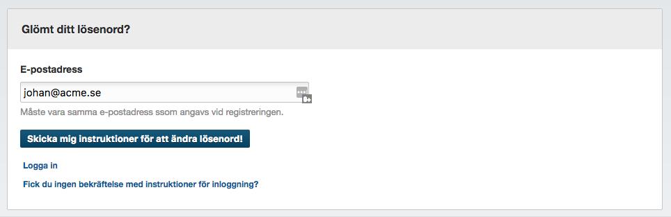 Streamio-glömt-lösenord-inloggnigsproblem