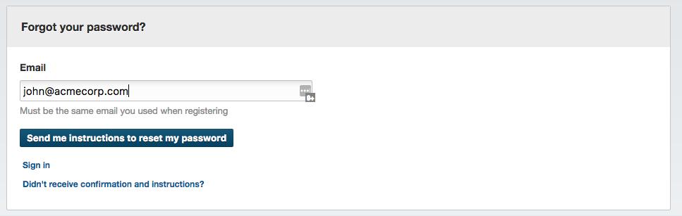 Lost password to Streamio
