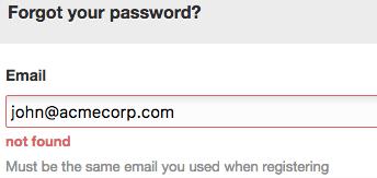 Streamio wrong e-mail address