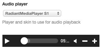AUDIO player: Radiant media player S1