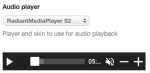 Audio player: Radiant Media Player S2