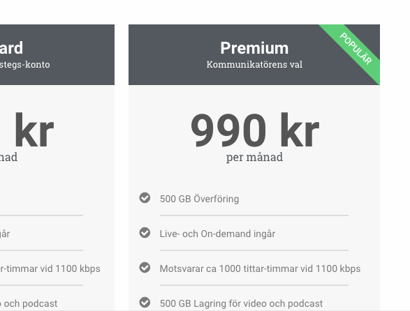 Streamio OVP pricing