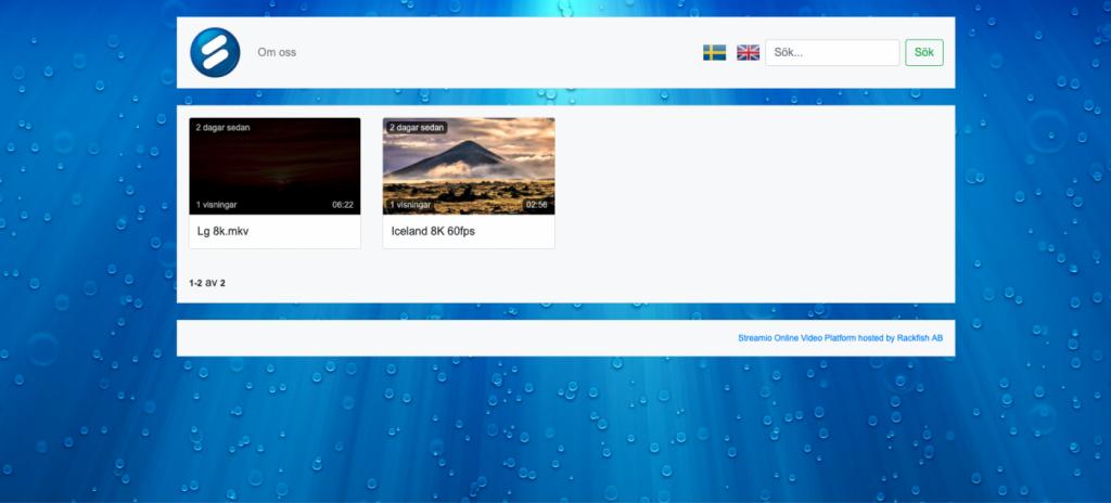 bakgrundsbild i webbtv