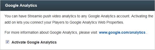 video streaming google analytics data